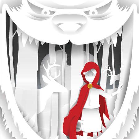 girl in red hood Illustration
