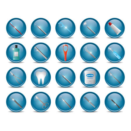 set of dental icons Illustration