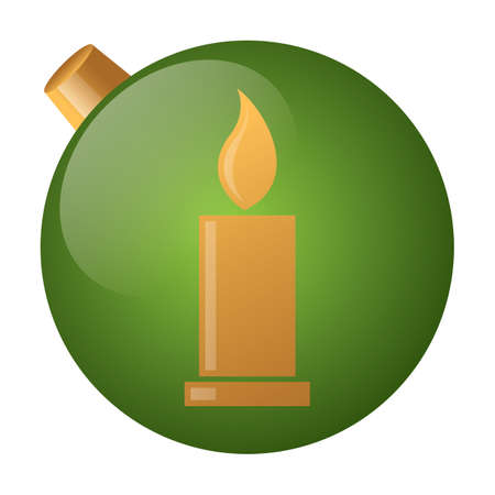 burning: burning candle button