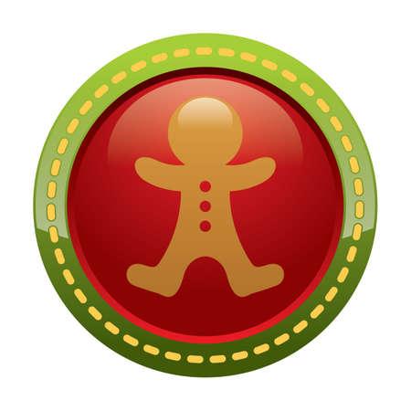 gingerbread man: gingerbread man button