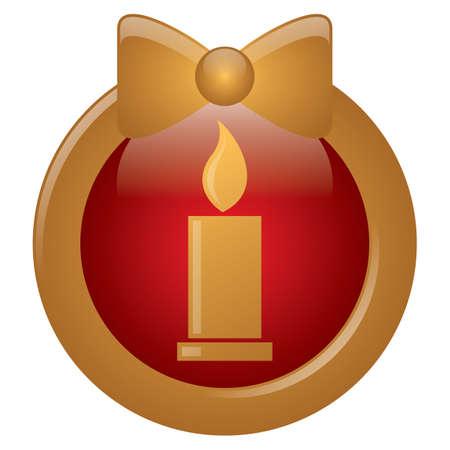 burning candle: burning candle button