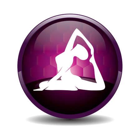 silhouette ragazza praticare lo yoga in una gamba piccione re posa