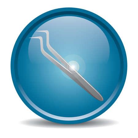 dental tweezers Ilustração