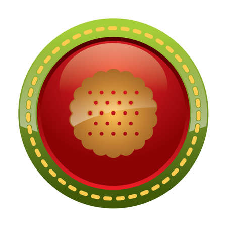 teatime: shortbread cookie button Illustration
