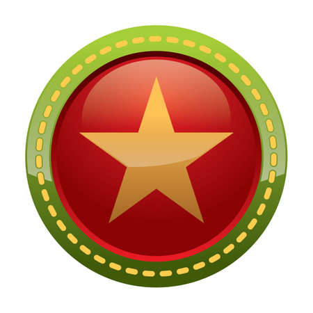 mas: star decoration button Illustration