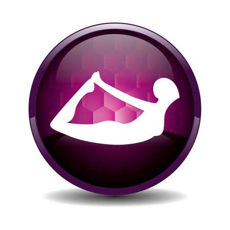 silhouette ragazza praticare lo yoga in posa arco