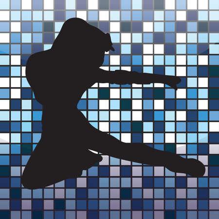 dance pose: silhouette of a woman striking dance pose