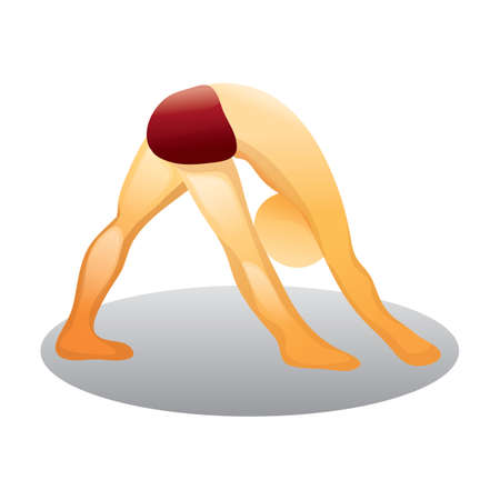 practicing: man practicing yoga