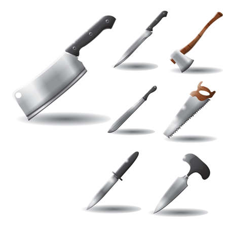 weapons: various knives and weapons