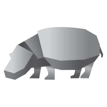 hippopotamus: hipopótamo de papel