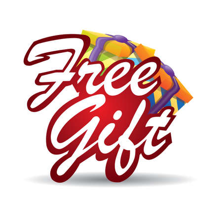 free gift: free gift sign