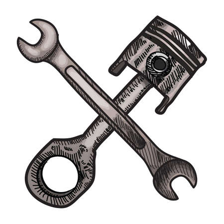 piston and spanner