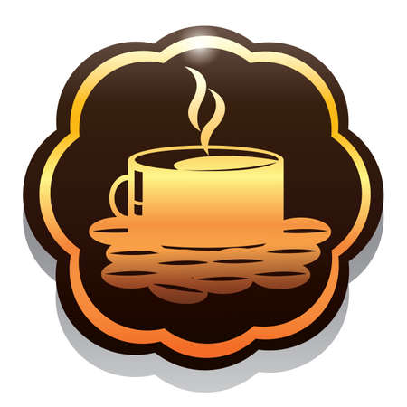 coffee beans: hot coffee with beans