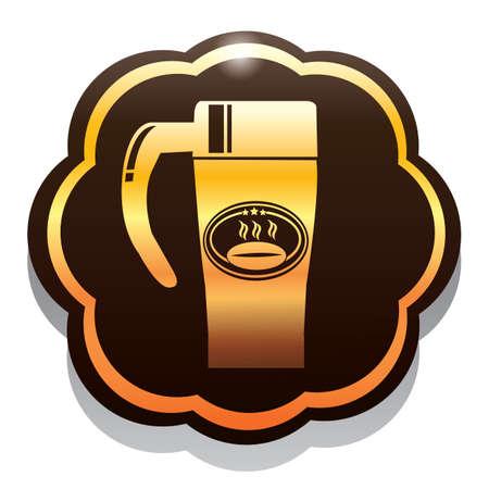 flask: coffee in flask
