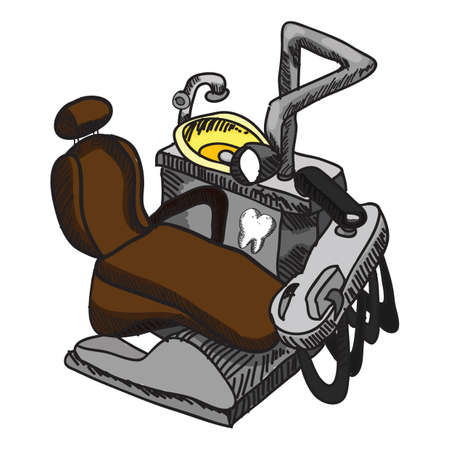 dental chair: dental chair with equipment Illustration