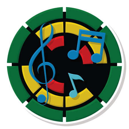 melodious: musical notes Illustration