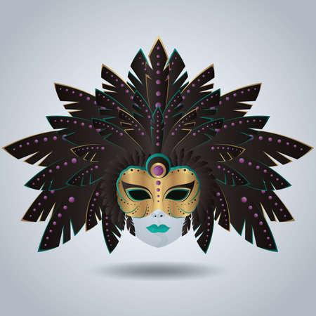 venetian: venetian mask Illustration