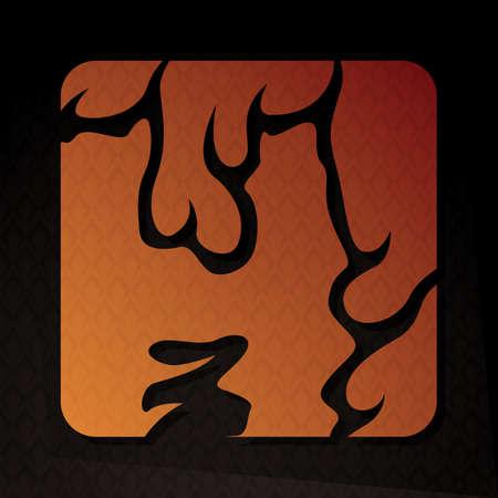 flame letters: alphabet h Illustration