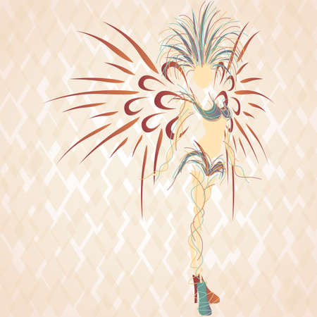 exotic woman: samba queen