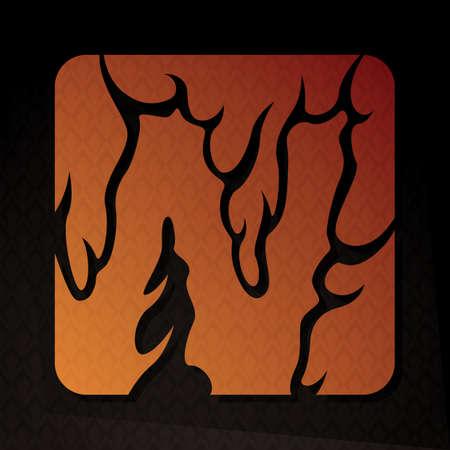 flame letters: alphabet w Illustration