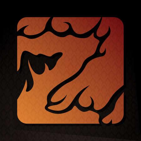 flame letters: alphabet z