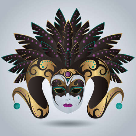 venetian mask: venetian mask Illustration
