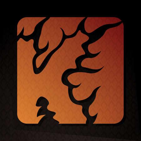 flame letters: alphabet k