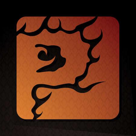flame letters: alphabet p