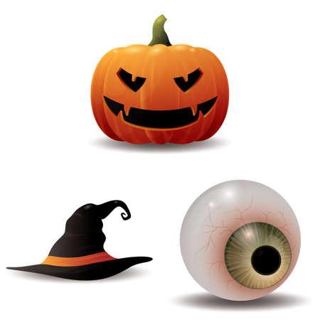 apparel part: halloween icons set