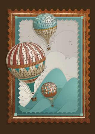 air: hot air balloon frame