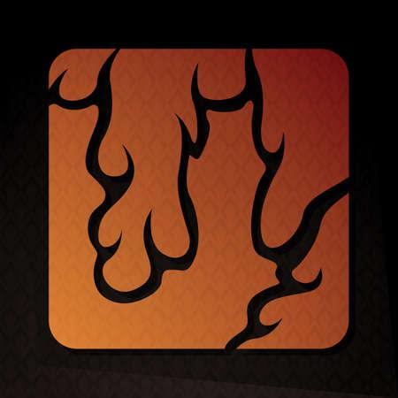 flame letters: alphabet u Illustration