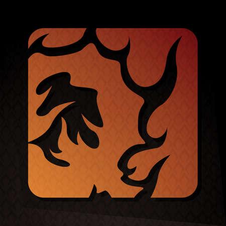 flame letters: alphabet q