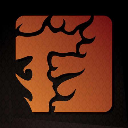 flame letters: alphabet t