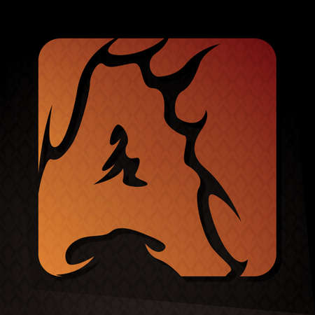flame letters: alphabet a Illustration