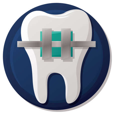 brace: tooth with braces