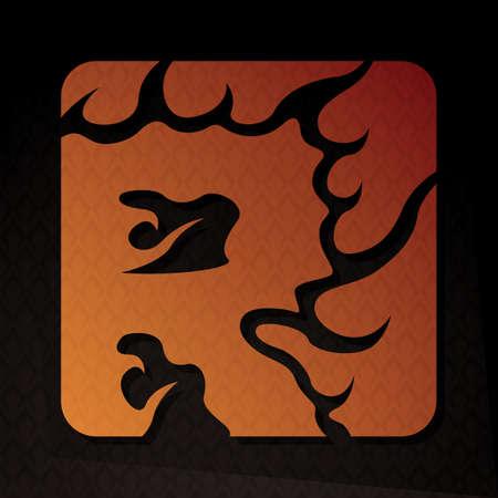 flame letters: alphabet r