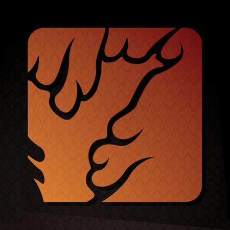 flame letters: alphabet y Illustration