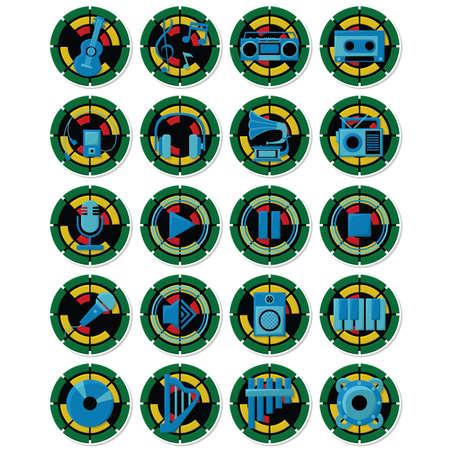 set of musical icons Illustration