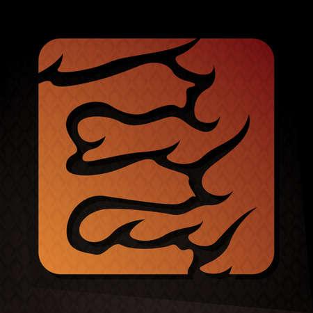 flame letters: alphabet e