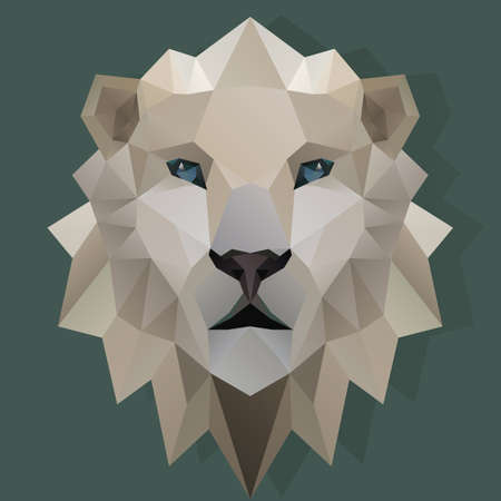 faceted: faceted lion Illustration