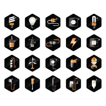 soldering: electricity icons Illustration