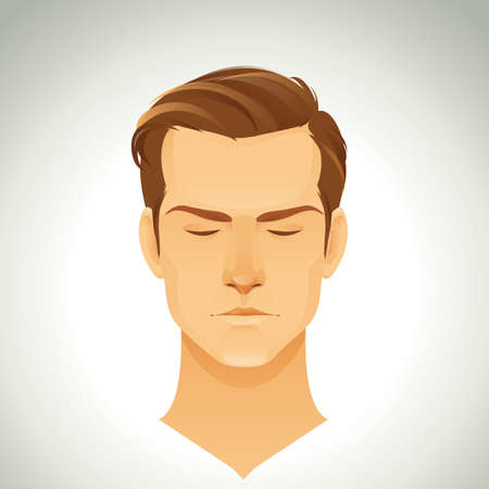 cool man: man with trendy hairstyle Illustration