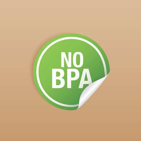 bisphenol a: bpa free product label design Illustration
