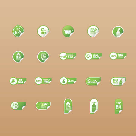 set of label icons