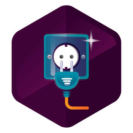 plug socket: socket and plug Illustration