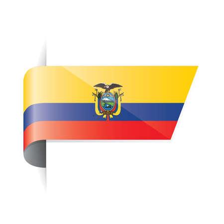 ecuador: ecuador flag Illustration