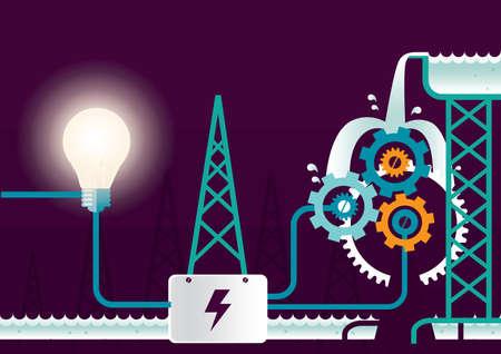 hydro electric: hydro electric generator