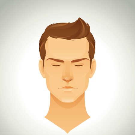trendy: man with trendy hairstyle Illustration