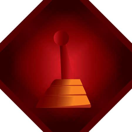 palanca: varilla de la palanca de cambios Vectores