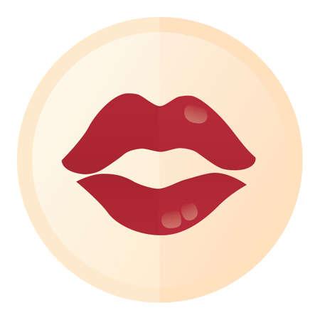 kissing lips: lips Illustration